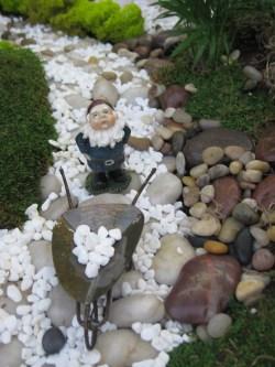 Nifty His Wheelbarrow Full Stones A Miniature Fairy Garden Designed Otten Garden Miniature Gnome Garden Ideas Gnome On A Path