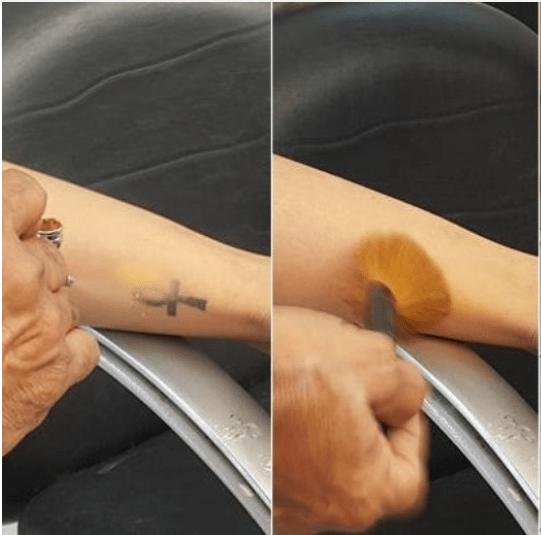 """Elenco esconder tatuagens em """"Os Dez Mandamentos"""" (Foto divulgação)"""