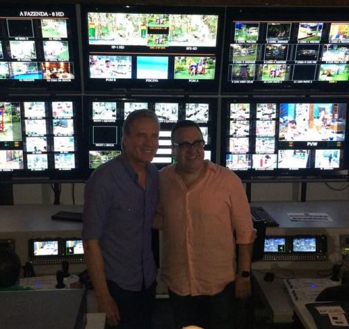 Roberto Justus e Rodrigo Carelli (Foto: Aaron Racanicchi / TV Foco)