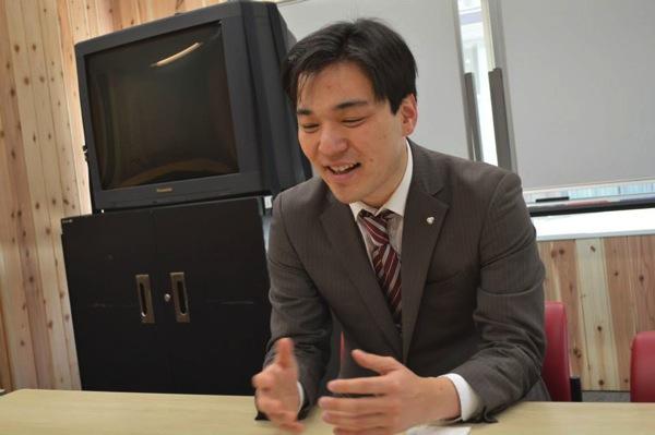 やわらかい口調で熱く語る田中さん