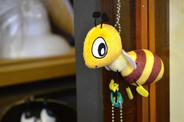 ミツバチのキーホルダー