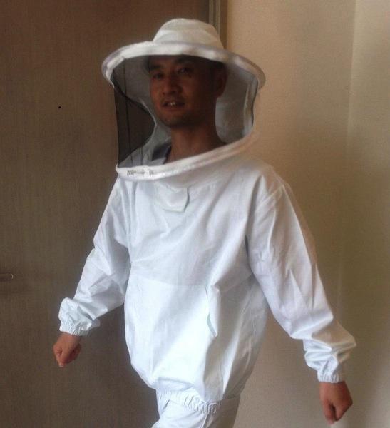 養蜂で着る防護服
