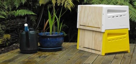都市でも養蜂を。ニュージーランド生まれのオシャレなミツバチ巣箱