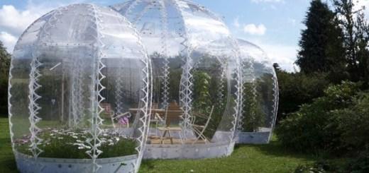 200万円で買えるバルーンな空間。今にでも空を舞いそうなデンマークの丸い温室