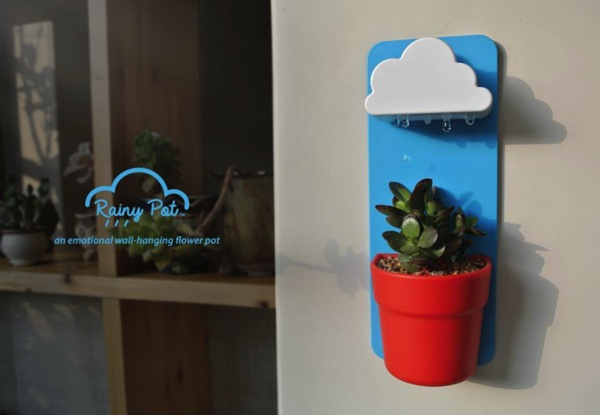 おうちの植物に雨を降らそう。水やりが楽しくなるプランター「Rainy Pot」