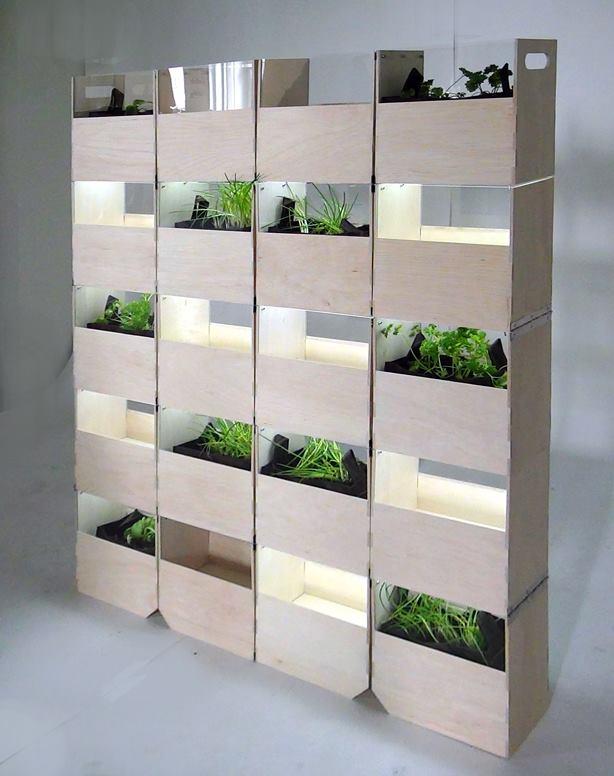 20個の箱で作るプランター菜園「Herb²」。変形させて、違う表情を楽しもう