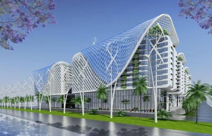 ソーラーパネルに屋上農園。2019年、カイロに完成予定の未来マンション