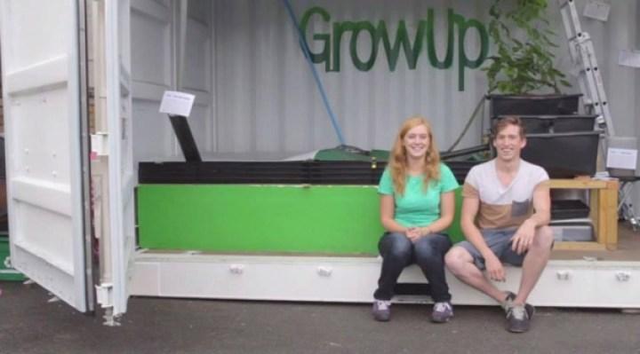 コンテナを再利用した菜園!ロンドン生まれのアクアポニックス栽培システム「GrowUp Box」