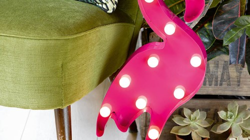 Oui Oui-luminoso flamenco-flamenco con bombillas-flamenco luminoso