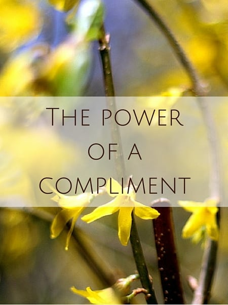 The power of a compliment
