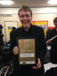 Francis Shepherd, OUWO conductor, with the Gold Award