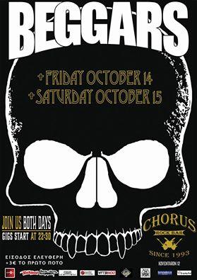 Οι Beggars live στο  Chorus rock bar στην Κοζάνη, 14 & 15 Οκτωβρίου