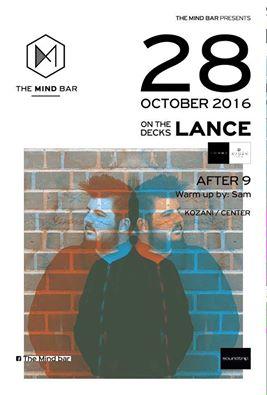 DJ lance @ The mind bar στην Κοζάνη, την Παρασκευή 28 Οκτωβρίου