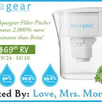 Aquagear Filter Pitcher #Giveaway!