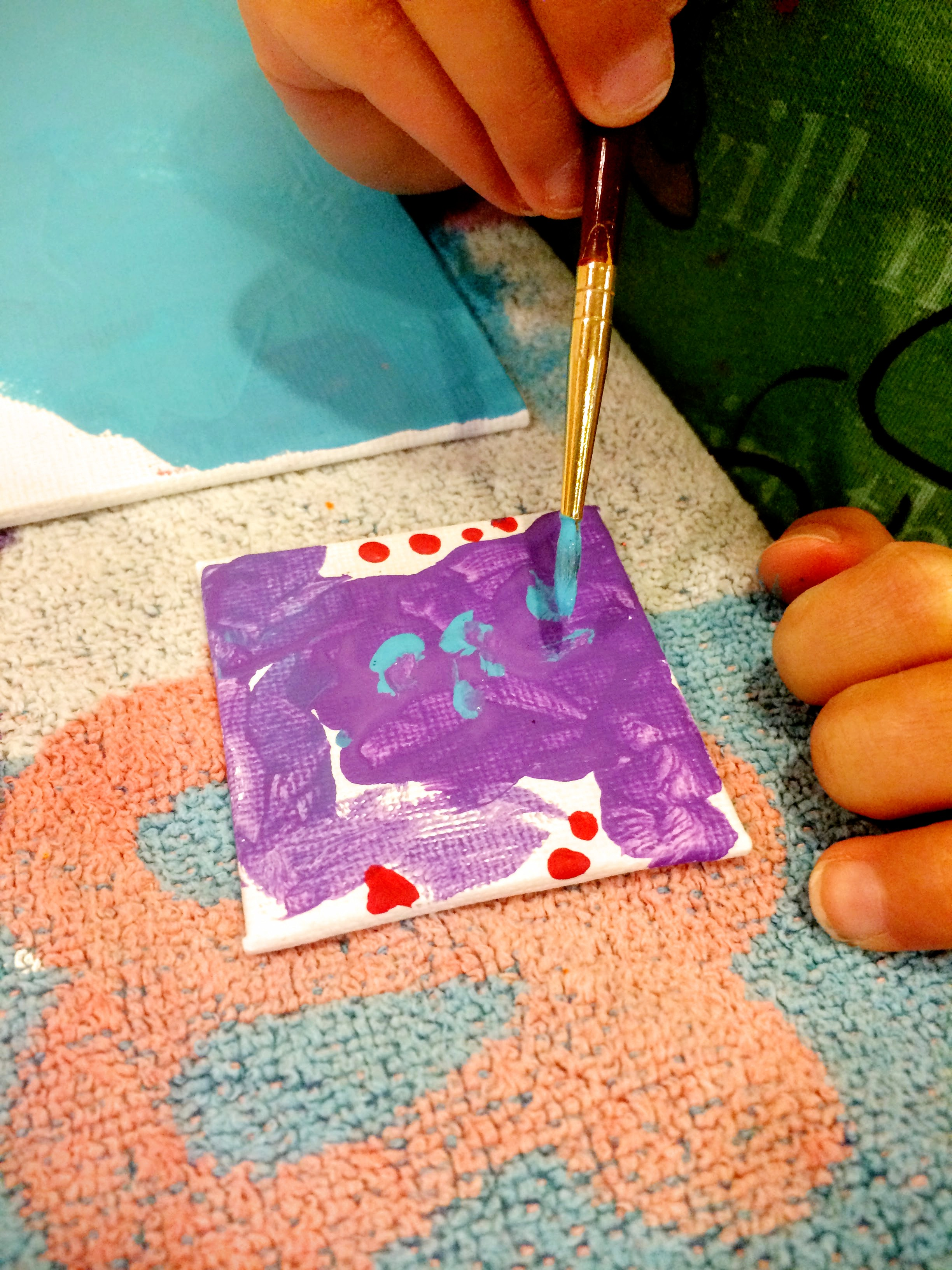 Mini canvas magnets our beautifully messy house for Thin magnets for crafts
