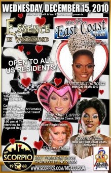 Show Ad | Miss Gay East Coast USofA | Scorpio (Charlotte, North Carolina) | 12/15/2010