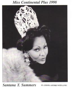 Santana T Summers - Miss Continental Plus 1998