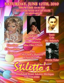 Show Ad | Stiletto's (Inkster, Michigan) | 6/12/2010