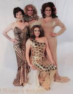 Miss Gay Ohio America Photo Shoot by John Lathram. Back Row: Darah Landon, Erica Rae O'Hara and Virginia West. Front: Selena T West