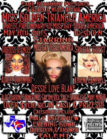 Show Ads | Miss Gay Golden Triangle America | 5/8/2015