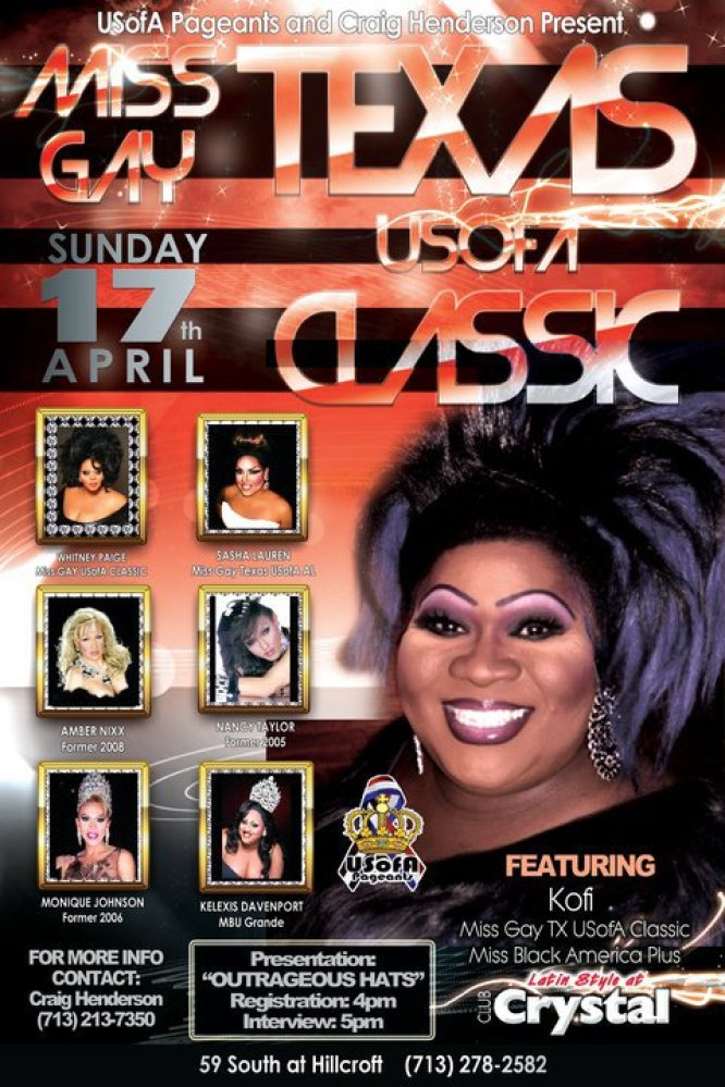 Show Ad   Miss Gay Texas USofA Classic   Crystal (Houston, Texas)   4/17/2011