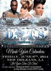 Show Ads | Diamond of the South Pageantry | New Orleans, Louisiana | 6/6/2014
