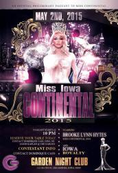 Show Ad | Miss Iowa Continentall | Garden Night Club (Des Moines, Iowa) | 5/2/2015
