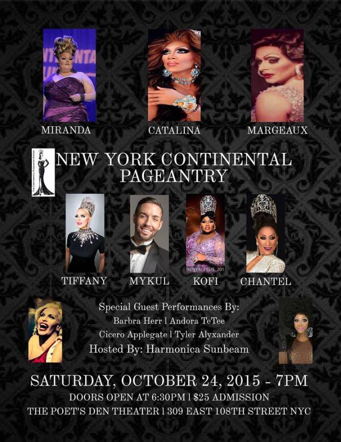 Show Ad | New York Continental | The Poet's Den Theater (New York, New York ) | 10/24/2015