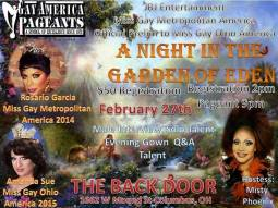 Show Ad | Miss Gay Metropolitan America | Back Door (Columbus, Ohio) | 2/27/2016