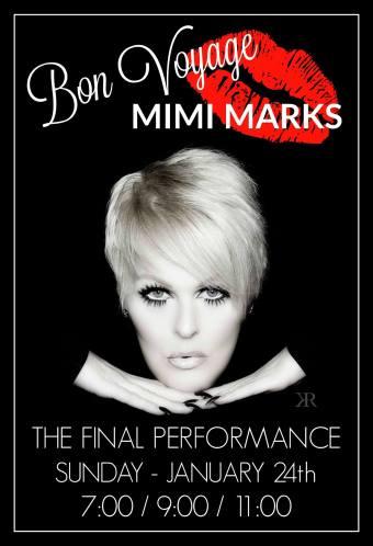 Show Ad | Mimi Marks Farewell Show at Baton | The Baton Show Lounge (Chicago, Illinois) | 1/24/2016