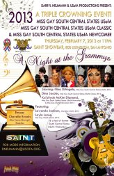 Show Ad | Miss Gay South Central States USofA, USofA Classic and USofA Newcomer | Saint (San Antonio, Texas) | 2/7/2013