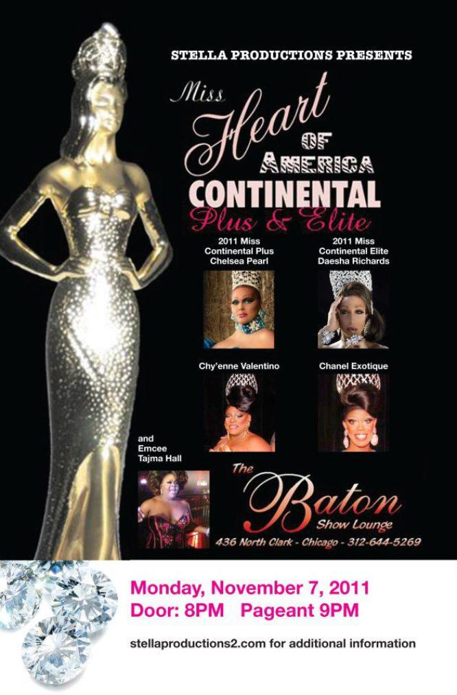 Show Ad | Miss Heart of America Continental | The Baton Show Lounge (Chicago, Illinois) | 11/7/2011