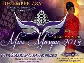 Show Ad | Miss Masque | Masque (Dayton, Ohio) | 12/7-12/9/2012