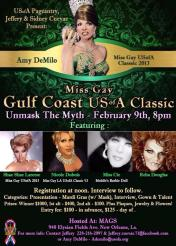 Show Ad | Miss Gay Gulf Coast USofA Classic | Mags (New Orleans, Louisiana) | 2/9/2014