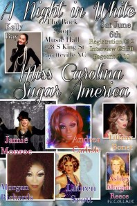 Show Ad | Miss Gay Carolina Sugar America | The Rock Shop Music Hall (Fayetteville, North Carolina) | 6/6/2015