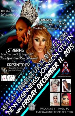 Show Ad | Miss Gay Tennessee USofA at Large | New Beginnings (Johnson City, Tennessee) | 12/11/2015