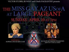 Show Ad | Miss Gay Arizona USofA at Large | B's West (Scottsdale, Arizona) | 4/10/2016