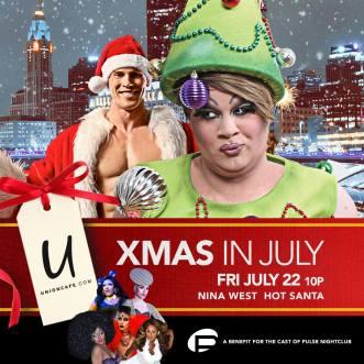 Show Ad | Xmas in July | Union Cafe (Columbus, Ohio) | 7/22/2016