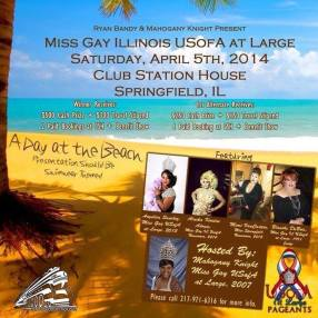 Show Ad | Miss Gay Illinois USofA at Large | (Clubl Station House - Springfield, Ohio) | 4/5/2014