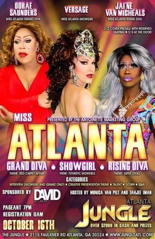 Show Ad | Miss Atlanta Grand Diva, Showgirl and Rising Diva | Jungle (Atlanta, Georgia) | 10/16/2016