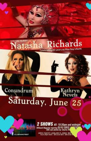 Show Ad | Club Main Street (Lakeland, Florida) | 6/25/2016