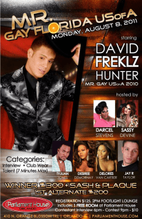 Show Ad | Mr. Gay Florida USofA | Parliament House (Orlando, Florida) | 8/8/2011