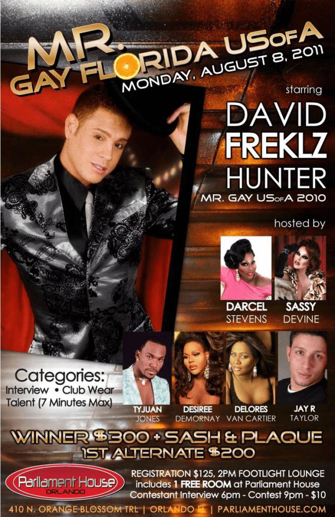 Show Ad | Mr. Gay Florida USofA | Parliament House (Orlando, Florida) | 8/8/2011