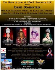 Show Ad | Miss Gay California USofA at Large and Miss Gay Long Beach USofA Newcomer | Club Ripples (Long Beach, California) | 1/28/2017