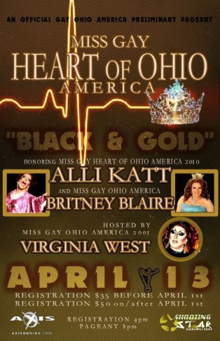 Show Ad | Miss Gay Heart of Ohio America | Axis Night Club (Columbus, Ohio) | 4/13/2017