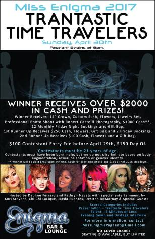 Show Ad | Miss Enigma | Enigma Bar & Lounge (Saint Petersburg, Florida) | 4/30/2017