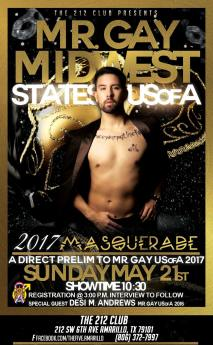 Show Ad | Mr. Gay Midwest States USofA | The 212 Club (Amarillo, Texas) | 5/21/2017