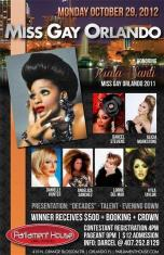 Show Ad | Miss Gay Orlando | Parliament House (Orlando, Florida) | 10/29/2012