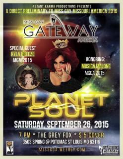 Show Ad   Miss Gay Gateway America   The Grey Fox (St. Louis, Missouri)   9/26/2015