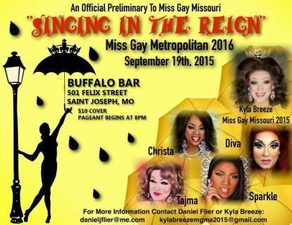 Show Ad   Miss Gay Metropolitan America   Buffalo Bar (Saint Joseph, Missouri)   9/19/2015